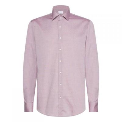 カルバンクライン Calvin Klein メンズ シャツ トップス Easy Iron Dobby Shirt Pale Red