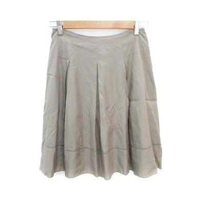 【中古】アナイ ANAYI スカート プリーツ フレア ひざ丈 38 カーキ /FF35 レディース 【ベクトル 古着】