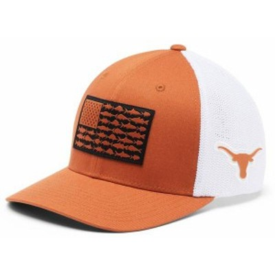 コロンビア メンズ 帽子 アクセサリー Columbia Men's Texas Longhorns Burnt Orange PFG Flag Mesh Fitted Hat