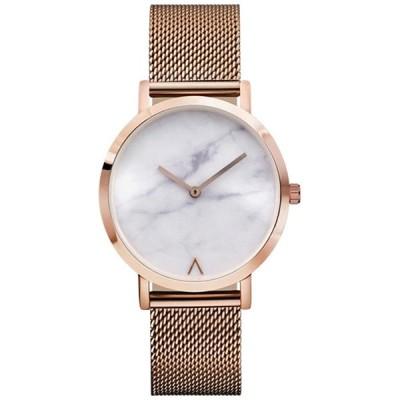 MGAEホットスタイル大理石ダイヤルワイヤバンドLady Quartz Watch Personality Inverted Vシンプルなファッション腕時計 並行輸入品