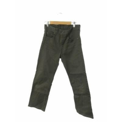 【中古】リーバイス Levi's パンツ スラックス ジップフライ 29 緑 グリーン /N3N17 レディース
