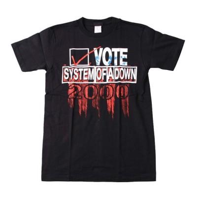 Tシャツ バンドTシャツ ロックTシャツ 半袖 (W) システムオブアダウン SYSTEM OF A DOWN 1 BLK S/S 黒