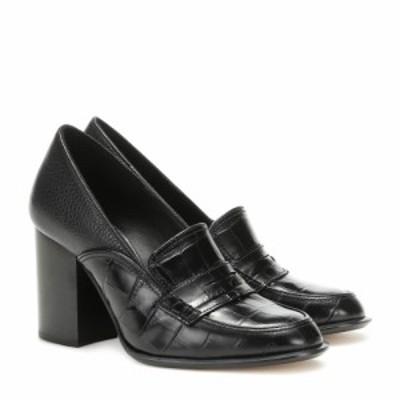 ロエベ Loewe レディース パンプス シューズ・靴 Leather loafer pumps Black/Black