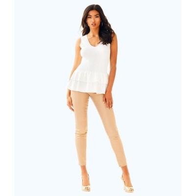 ジーンズ リリーピュリッツァー Lilly Pulitzer 31 WORTH SKINNY PANT Sand Bar Jeans Beige SOFT Sateen 8