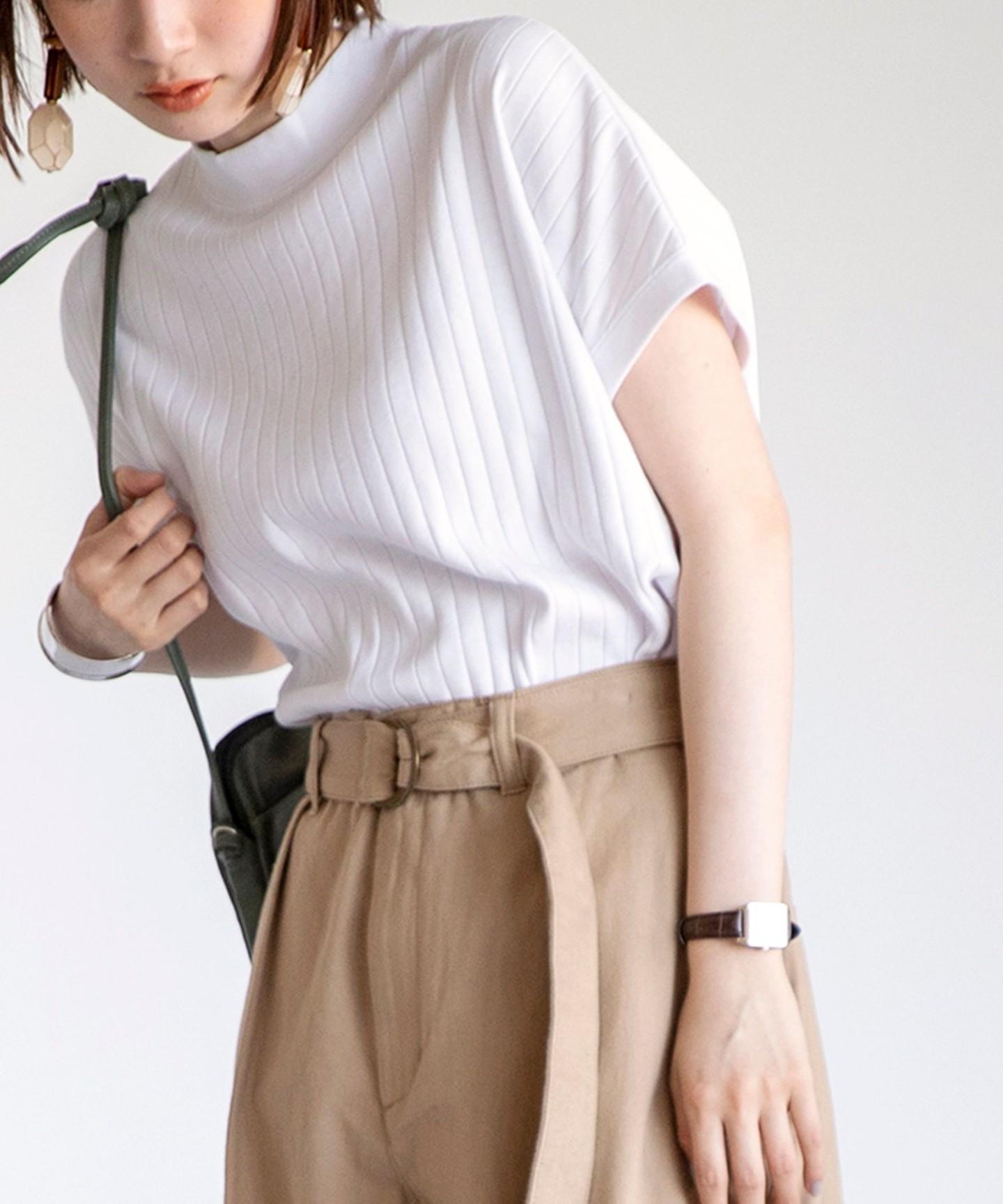 再版・高領 羅紋 針織 T恤#