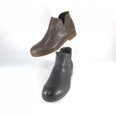 SAYA ブーツ サヤ ラボキゴシ 靴 rabokigoshi SAYA 50511 クロ ブラウン アンクルブーツ ブーティー サイドファスナー クレープソール 履きやすいブーツ セール