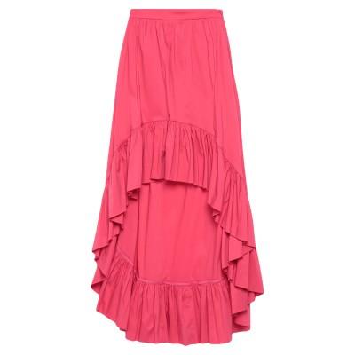 ANNARITA N TWENTY 4H ひざ丈スカート フューシャ 42 コットン 79% / ナイロン 18% / ポリウレタン 3% ひざ丈ス
