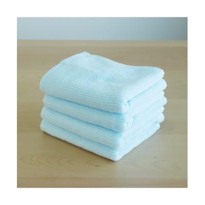 ふわふわな肌触りのフェイスタオル同色4枚セット フェイスタオル, Towels(ニッセン、nissen)