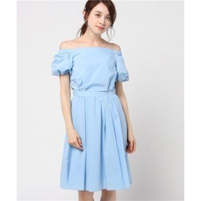 ドレス 【aimer anche】2wayオフショルダーフレアワンピース  / 結婚式・2次会・パーティードレス