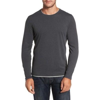 ロバートバラケット メンズ Tシャツ トップス Halifax Long Sleeve Crewneck T-Shirt NAVY