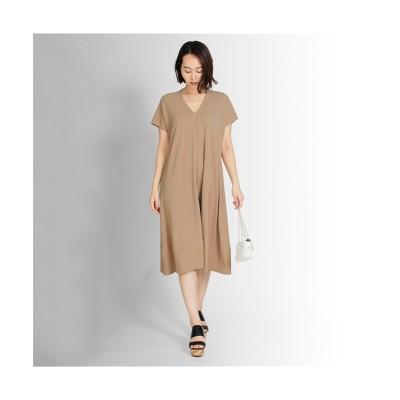 MARTHA(マーサ) ショートスリーブVネックフレアワンピース (ワンピース)Dress