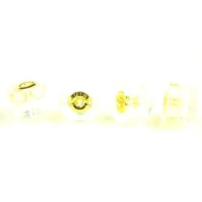 K18YGイエローゴールド ダブルロックフィットピアスキャッチ ダブルロックフィット式 ご注文数量1で2ペア分4個販売 18金 イエローゴールド