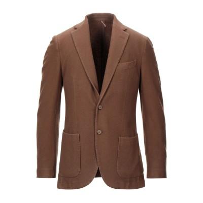 SANTANIELLO テーラードジャケット カーキ 52 カシミヤ 100% テーラードジャケット