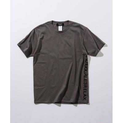 【シフォン】 1PIU1UGUALE3 RELAX(ウノピゥウノウグァーレトレ) サイドロゴプリントTシャツ メンズ チャコール グレー S SHIFFON