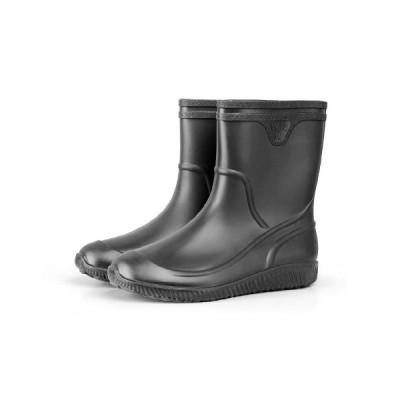 レインブーツ ウォーターシューズ 雨靴 メンズ 防水 撥水 ショート ミドル丈 ノンスリップ つま先保護 耐摩耗性 作業用 ラバーブーツ