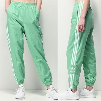 Adidas/アディダス adidas レディース パンツ ジャージ グリーン Lock Up Mint Nylon Track Pants