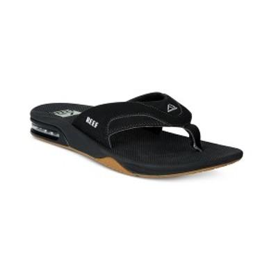 リーフ メンズ サンダル シューズ Men's Fanning Thong Sandals with Bottle Opener Black