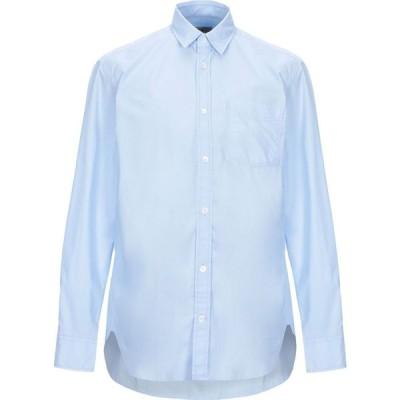 マウロ グリフォーニ MAURO GRIFONI メンズ シャツ トップス solid color shirt Sky blue