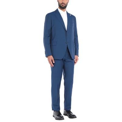 ラルディーニ LARDINI スーツ ブルー 58 ウール 100% スーツ