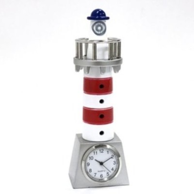 ミニチュア置時計 灯台 トリコロールカラー/MC-C3645 [▲][TP]