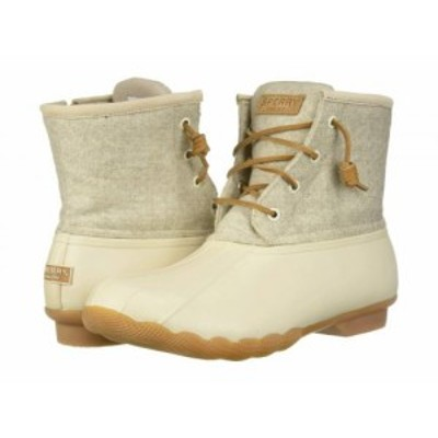 Sperry スペリー レディース 女性用 シューズ 靴 ブーツ スノーブーツ Saltwater Emboss Wool Off-White【送料無料】