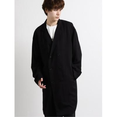 【タカキュー】 ワイドフィット ダブルロングジャケット メンズ ブラック M TAKA-Q