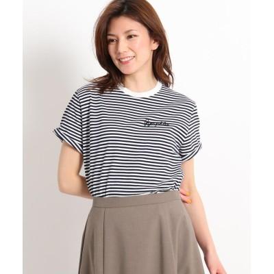 Dessin(Ladies)(デッサン(レディース)) Gymphlex 刺しゅうロゴTシャツ J-1155