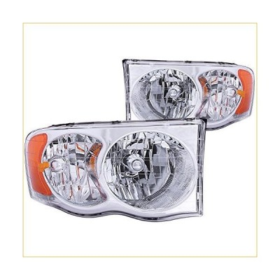 Anzo USA 111076 Dodge Ram Crystal Clear With Amber Reflectors Headlight Assembly - (Sold in Pairs) 並行輸入品
