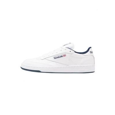 リーボック メンズ 靴 シューズ CLUB C 85 LEATHER UPPER SHOES - Trainers - white/navy