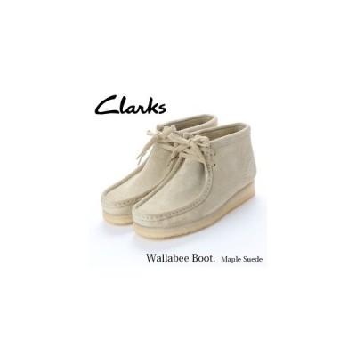 レディース シューズ カジュアル Clarks(クラークス) Maple Suede ワラビーブーツ ショートブーツ メープルスエード 26134977 Wallabee Boot. お取り寄せ商品