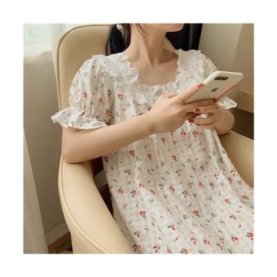 ニューモデル 花 パジャマ ルームウェア 夏物 薄手 プリンセススタイル快適 可愛い おしゃれ レディース おとな シンプル