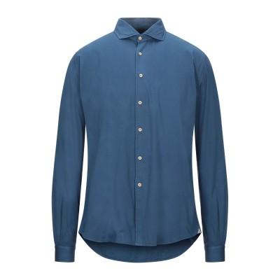 PORTOFIORI シャツ ブルーグレー 38 コットン 100% シャツ
