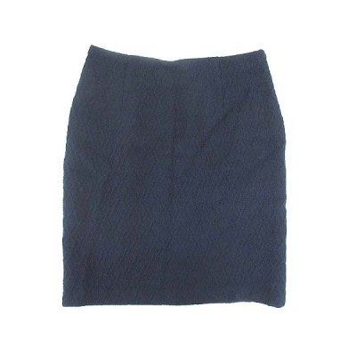 【中古】ドゥアルシーヴ DOUX ARCHIVES スカート ひざ丈 タイト ウール ネイビー 38 ■VG  【ベクトル 古着】