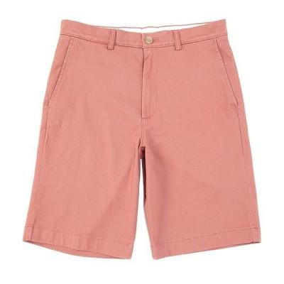 ランドツリーアンドヨーク メンズ ハーフ&ショーツ ボトムス 11#double; Inseam Flat-Front Stretch Washed Chino Shorts Medium Red