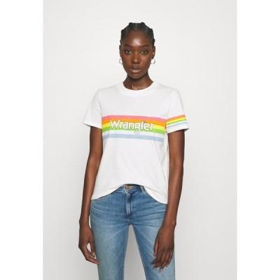 ラングラー Tシャツ レディース トップス HIGH REGULAR TEE - Print T-shirt - worn white