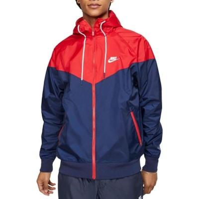 ナイキ Nike メンズ フィットネス・トレーニング フード ジャケット アウター Sportswear 2019 Hooded Windrunner Jacket Mdnght Nvy/Unvrsty Rd/Wte