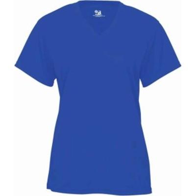 スポーツ用品 ベースボール Badger Womens B-Core Short Sleeve V-Neck T-Shirt