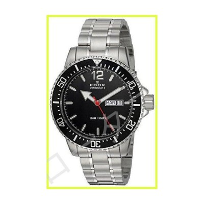 Edox Men's Chronorally -S Quartz Sport Watch with Stainless-Steel Strap, Silver, 20 (Model: 84300 3M NBN) 並行輸入品