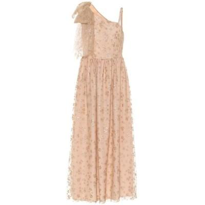 REDV レディース パーティードレス ワンショルダー ワンピース・ドレス redvalentino embellished tulle one-shoulder gown Nudo