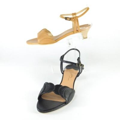 サンダル レディース eizo エイゾー 靴 サンダル Chuchoter 靴 53763 クロ ベージュ ストラップ サンダル ローヒール 履きやすいサンダル レディース 靴 outlet