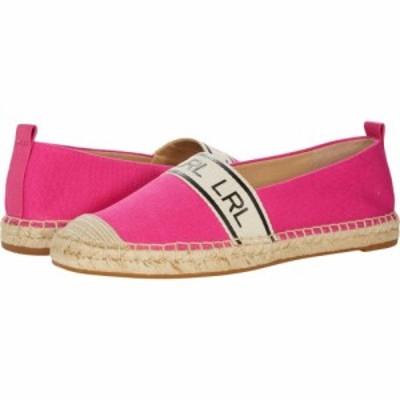 ラルフ ローレン LAUREN Ralph Lauren レディース ローファー・オックスフォード シューズ・靴 Caylee Bright Pink Canvas/Webbing