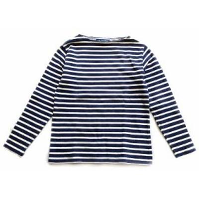 【中古】セントジェームス SAINT JAMES バスクシャツ Tシャツ カットソー ロング 長袖 ロンT ボーダー