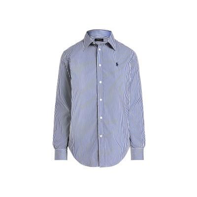 POLO RALPH LAUREN シャツ ブルー 6 コットン 83% / ナイロン 13% / ポリウレタン 4% シャツ