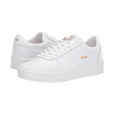 Gola ゴラ メンズ 男性用 シューズ 靴 スニーカー 運動靴 Grandslam Leather - White/White/White