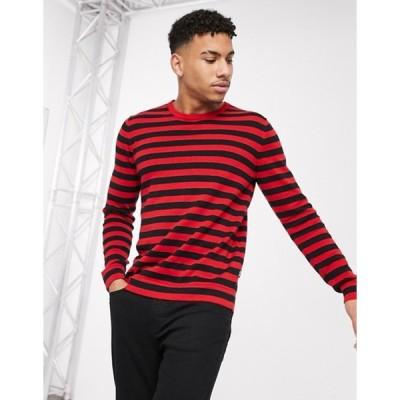オンリーアンドサンズ メンズ ニット・セーター アウター Only & Sons 100% cotton knitted stripe sweater