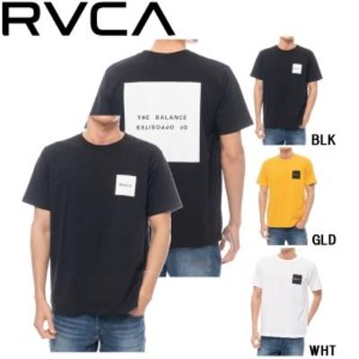 【RVCA】ルーカ 2020春夏 RVCA メンズ SQUARE BALANCE TEE Tシャツ 半袖 スケートボード サーフィン