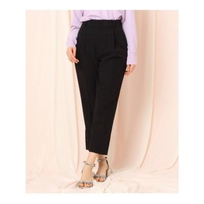 クチュール ブローチ Couture brooch ボタンテーパードパンツ (ブラック)