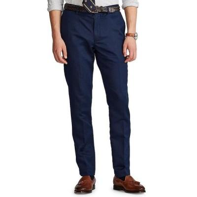 ラルフローレン メンズ カジュアルパンツ ボトムス Straight-Fit Linen Pants Newport Navy