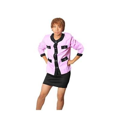 MAKE CHEERFUL バブリーダンス 衣装 バブリー 衣装 余興 男女兼用 (パープル S)