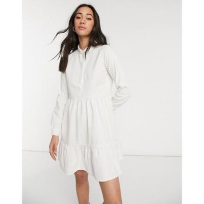 ヴェロモーダ Vero Moda レディース ワンピース シャツワンピース ワンピース・ドレス Cotton Shirt Dress In White ホワイト
